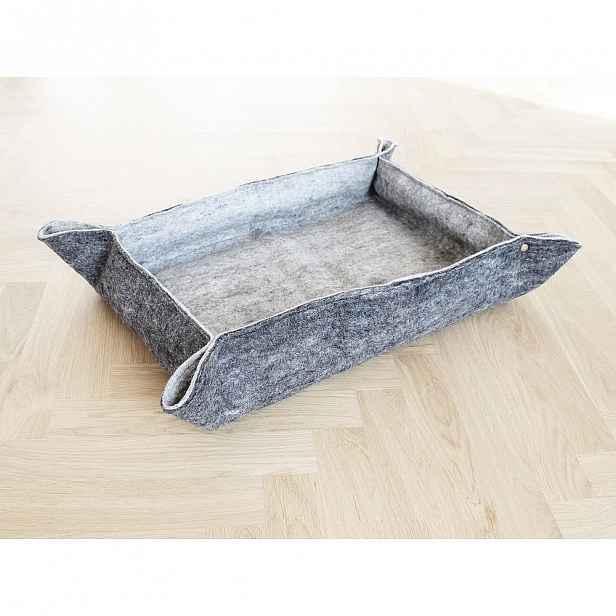Šedý plstěný pelíšek z vlny pro domácí zvířata Wooldot Felt Pet Mat, 80 x 60 cm