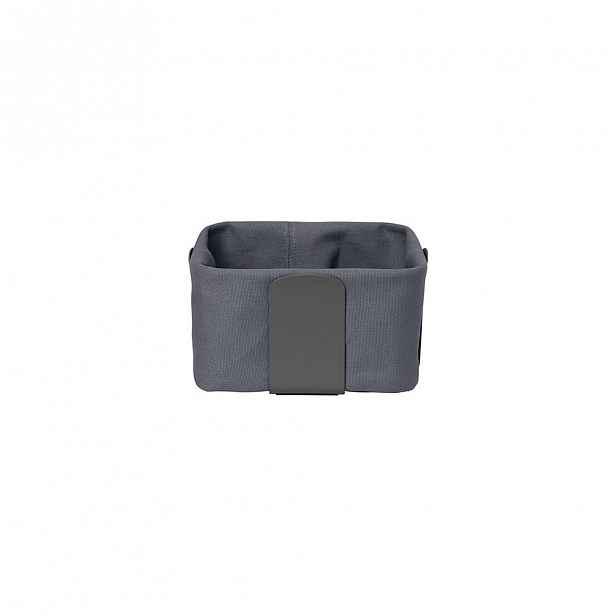 Tmavě šedý textilní košík na chléb Blomus Magnet, 20 x 20 cm