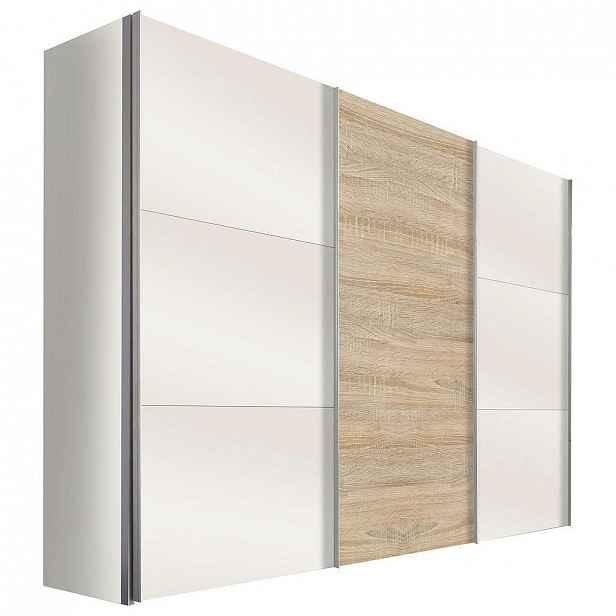 Hom`in Skříň S Posuvnými Dveřmi, Bílá, Barvy Dubu - Skříně s posuvnými dveřmi - 001172008059