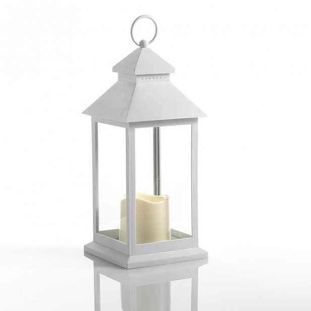 Velká bílá dekorativní LED lucerna vhodná do exteriéru Tomasucci Lante