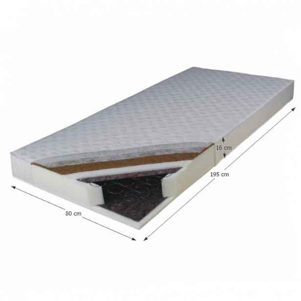 Pružinová matrace oboustranná KOKOS MEDIUM Tempo Kondela 80x195 cm