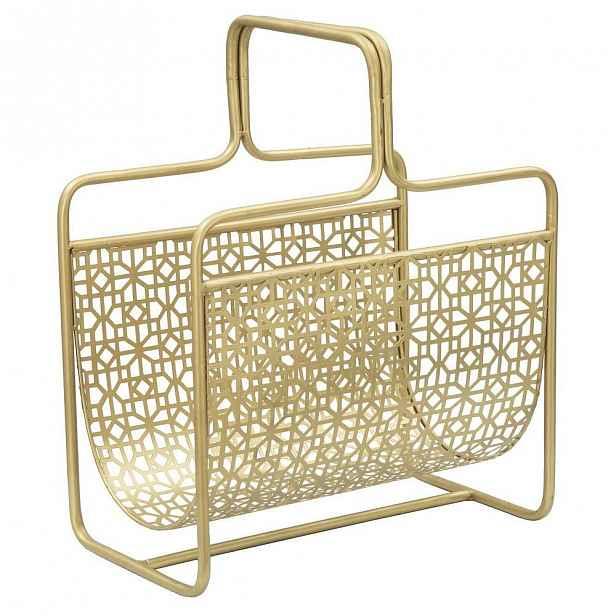 Kovový stojan na časopisy ve zlaté barvě Mauro Ferretti Trivola