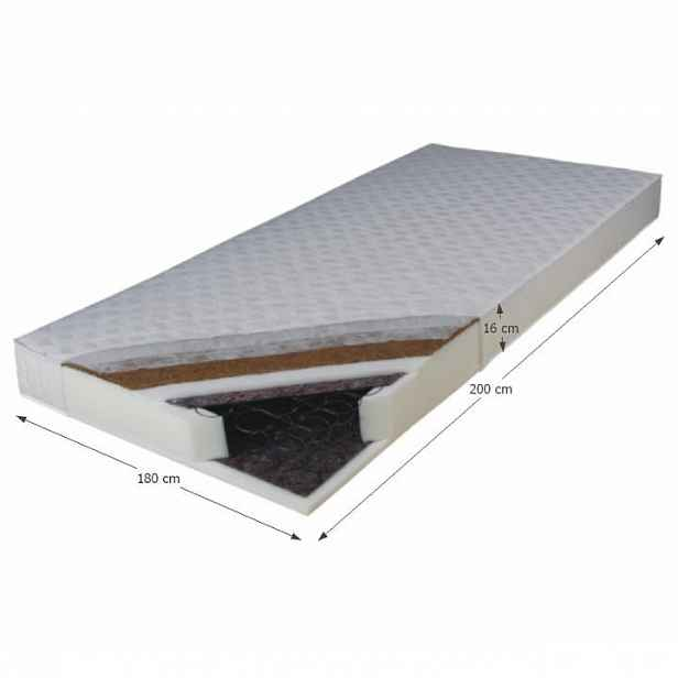 Pružinová matrace oboustranná KOKOS MEDIUM Tempo Kondela 180x200 cm