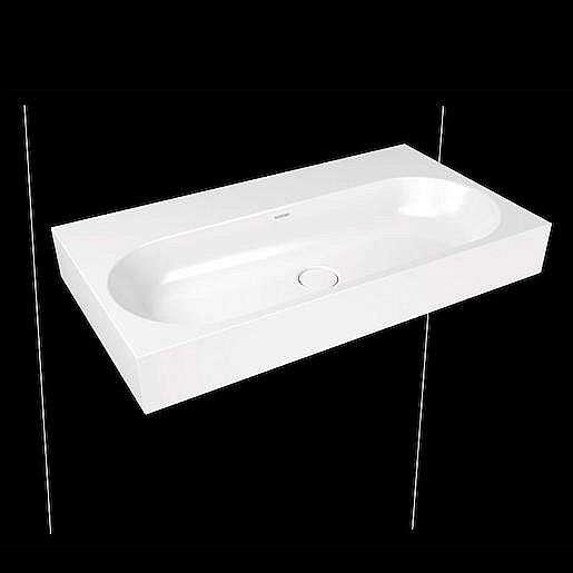 Umyvadlo Kaldewei Centro 3062 90x50 cm alpská bílá bez otvoru pro baterii, bez přepadu 903506003001