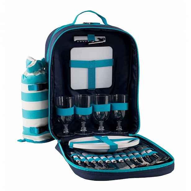 Světle modrý chladící piknikový batoh Navigate Aqua