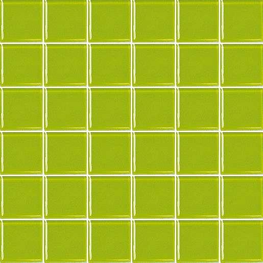 Skleněná mozaika zelená 31x31 cm lesk MOS50PI