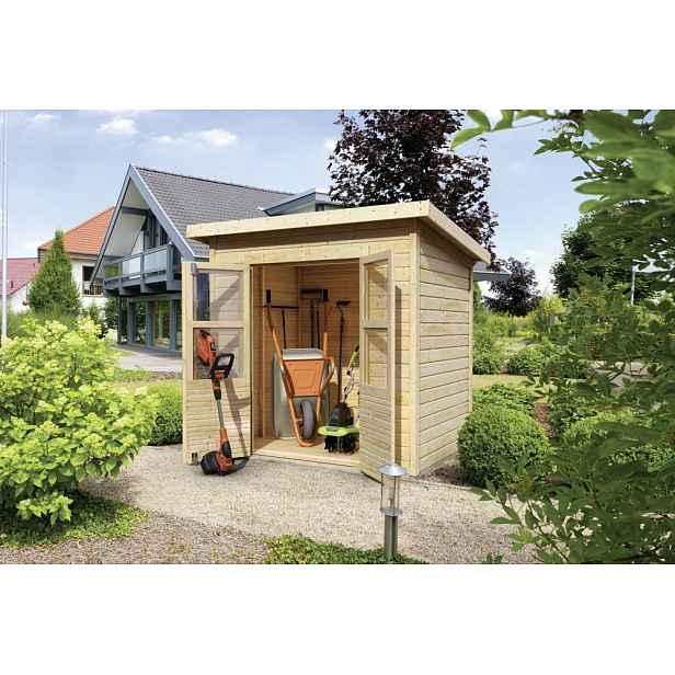 Dřevěný zahradní domek 242 x 214 cm