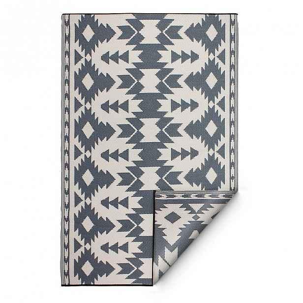 Šedý oboustranný venkovní koberec z recyklovaného plastu Fab Hab Miramar Gray, 150 x 240 cm
