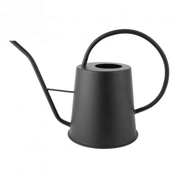 Černá kovová konev na zalévání PT LIVING, výška 24 cm