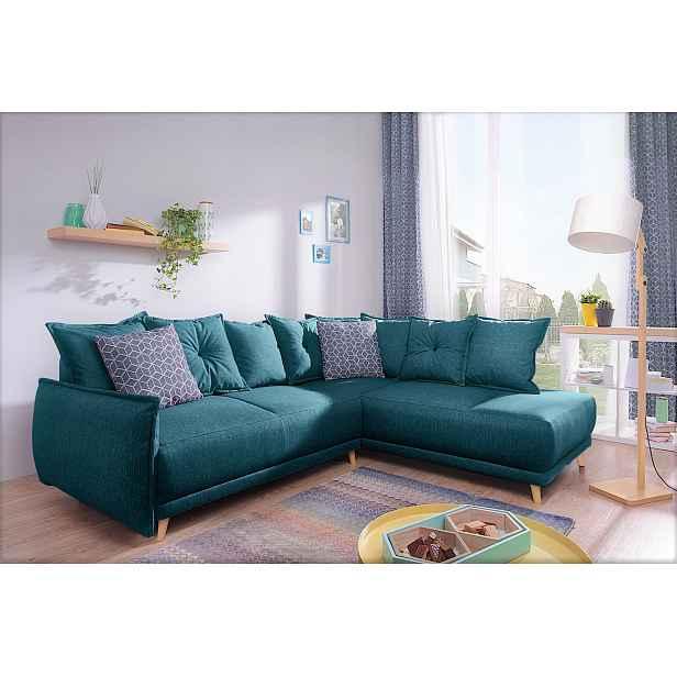 Luxusní sedací souprava Levano, smaragdová Roh: Orientace rohu Levý roh HELCEL