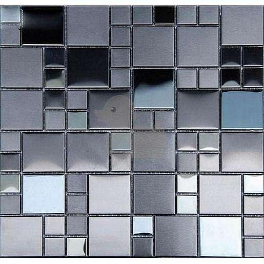 Premium Mosaic mozaika černá nerezová 30x30 cm MOS4823BK