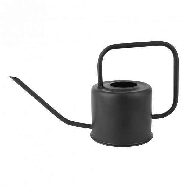 Černá kovová konev na zalévání PT LIVING Cap, výška 18 cm