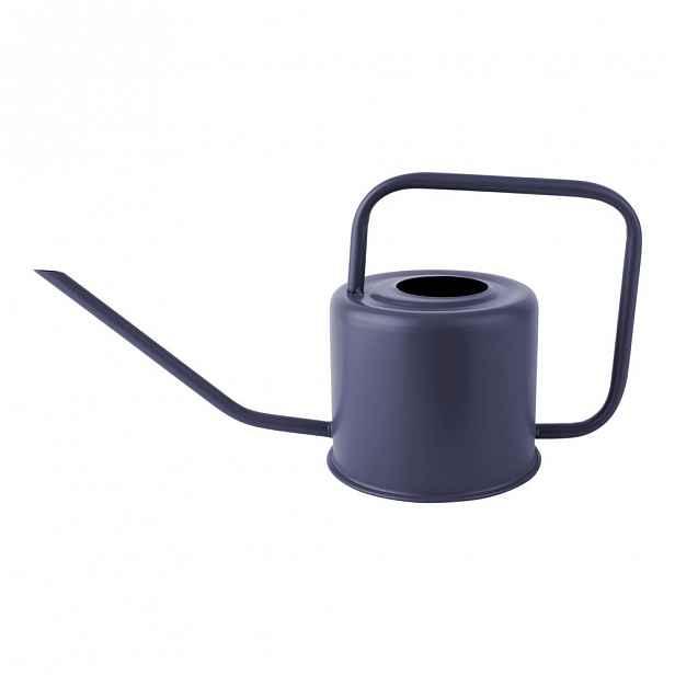 Modrá kovová konev na zalévání PT LIVING Cap, výška 18 cm