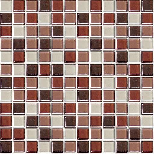 Skleněná mozaika hnědá 30x30 cm lesk MOS25MIX6