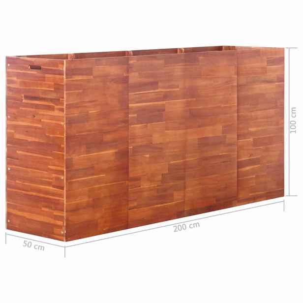 Zahradní truhlík  akáciové dřevo Dekorhome 200x50x100 cm