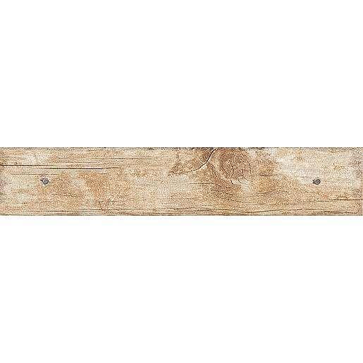 Dlažba Oset Nail Wood beige 8x44 cm mat NWOOD44EDBE