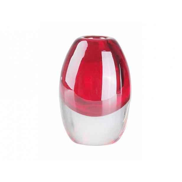 Váza Glass červená 8