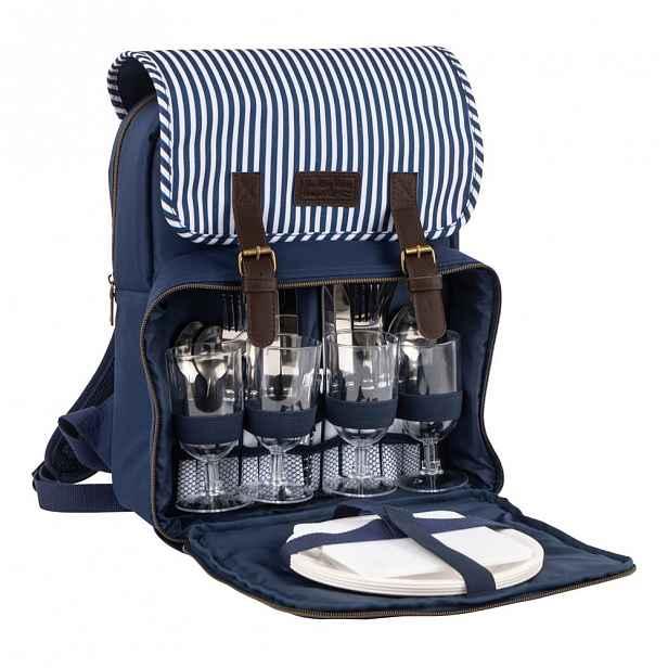 Modro-bílý piknikový batoh Navigate Cool, 15 l