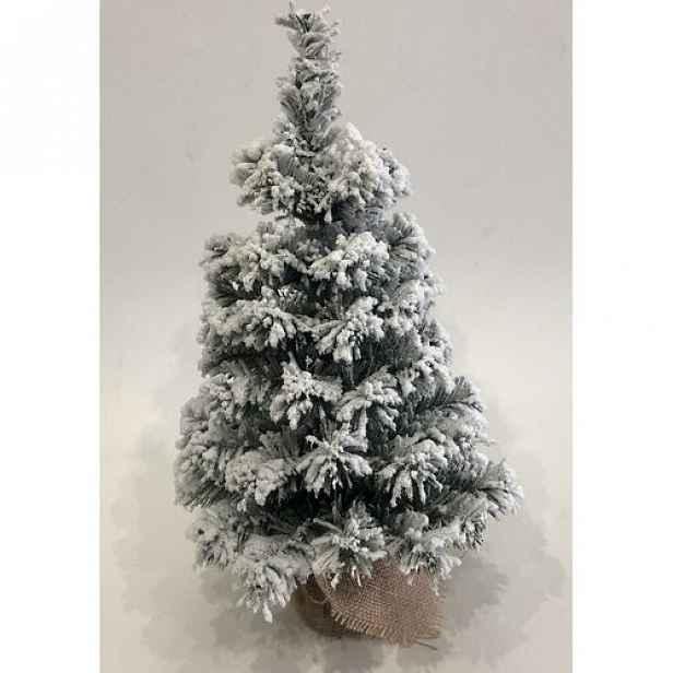 Zasněžený stromek v jutě Tiga, 50 cm