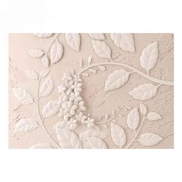 Velkoformátová tapeta Artgeist Beige Paper Flowers,200x140cm