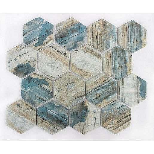 Skleněná mozaika blue 26x30 cm mat MOSV84HBL