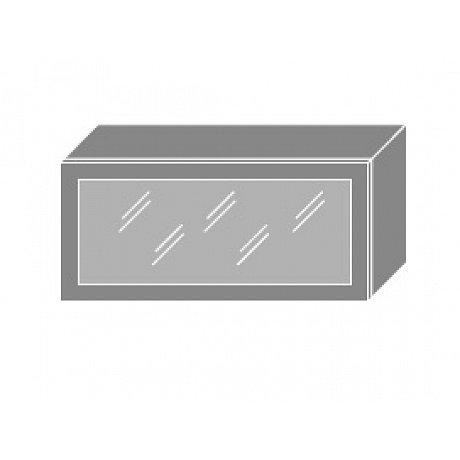 PLATINUM, skříňka horní prosklená W4bs 80 MDF, korpus: bílý