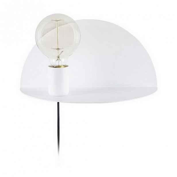 Bílé nástěnné svítidlo s poličkou Homemania Decor Shelfie,délka15cm