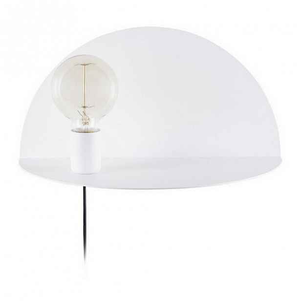 Bílé nástěnné svítidlo s poličkou Homemania Decor Shelfie,délka20cm