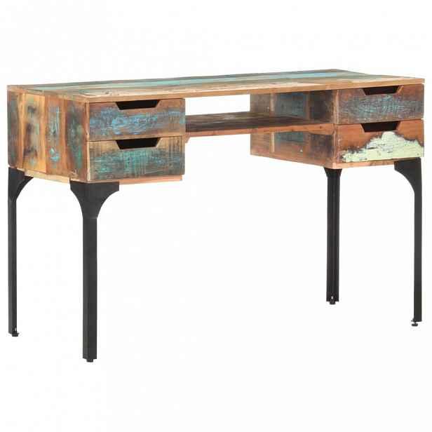 Psací stůl 118x48 cm hnědá / černá Dekorhome