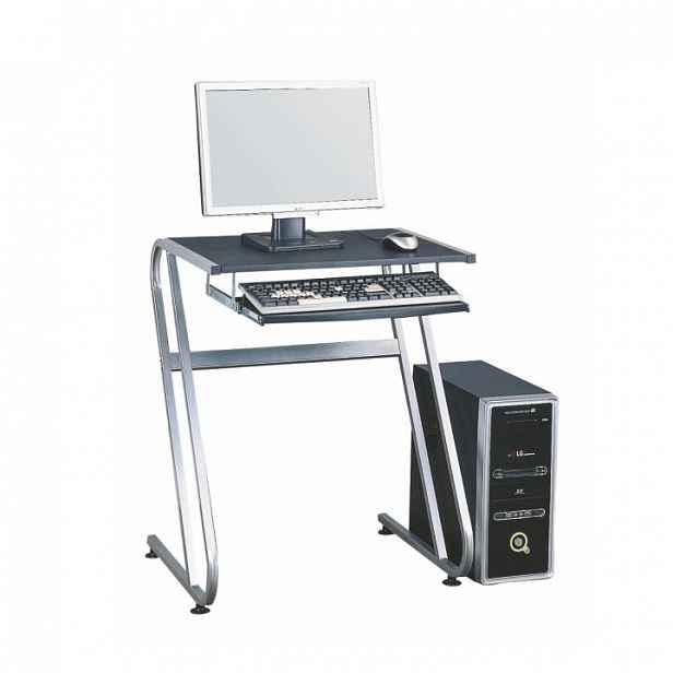 Kancelářský stůl, černá + stříbrná, Jofry 0000085851 Tempo Kondela