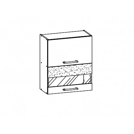 MODENA, horní vitrína G60W, bílý lesk
