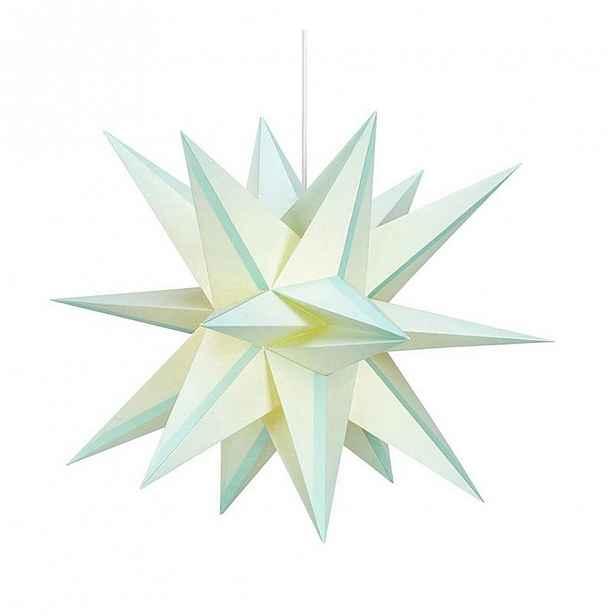 Zelená závěsná světelná dekorace Markslöjd Skillinge, ø 50cm
