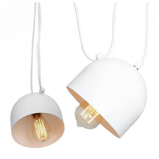 Bílé závěsné světlo pro 2 žárovky Custom Form Popo