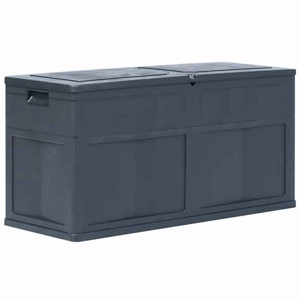 Zahradní úložný box 320 l Černá