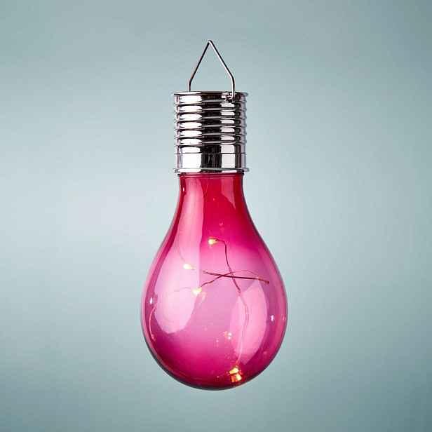 Butlers SUNLIGHT Solární žárovka k zavěšení - růžová