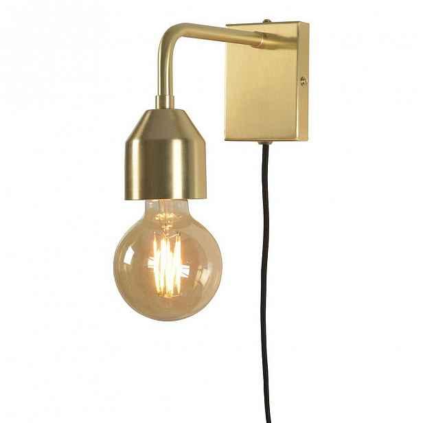 Nástěnné svítidlo ve zlaté barvě Citylights Madrid, výška 17cm