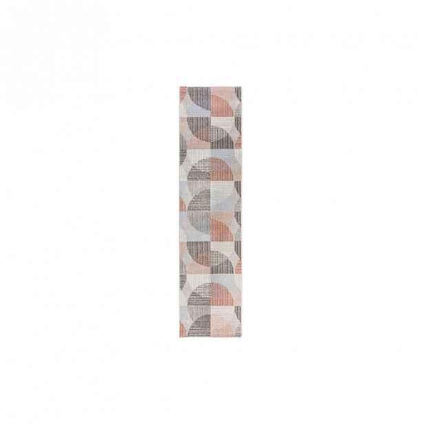 Šedo-růžový koberec Flair Rugs Centro, 60 x 230 cm
