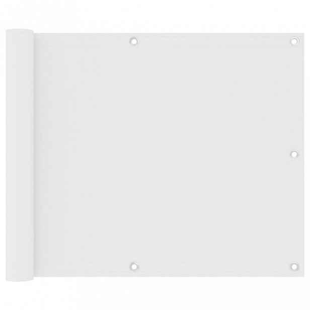 Balkónová zástěna 75 x 600 cm oxfordská látka Bílá