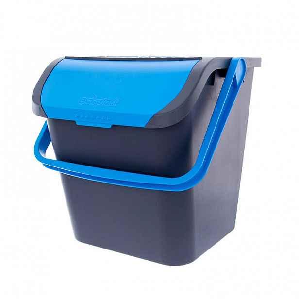 Koš na tříděný odpad 28 l, modrý