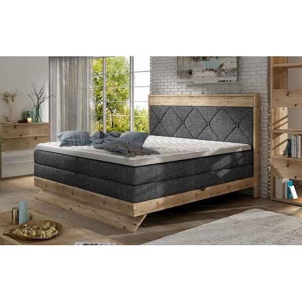 Luxusní box spring postel Desperado 180x200 s výběrem potahu! HELCEL