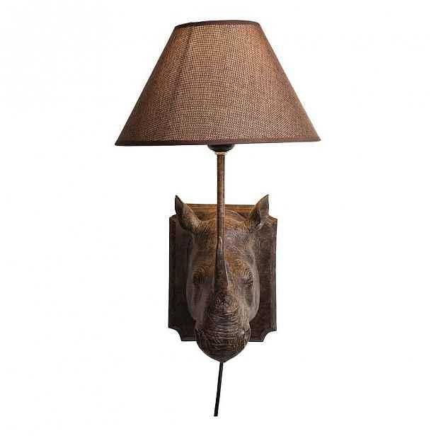 Hnědé nástěnné osvětlení Kare Design Rhino