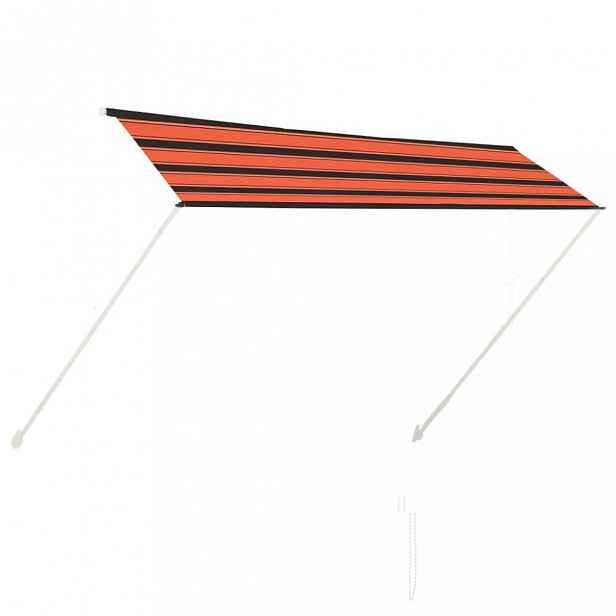 Zatahovací markýza 300x150 cm oranžová / hnědá Dekorhome