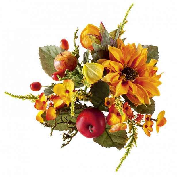 Podzimní věneček oranžový 15 cm