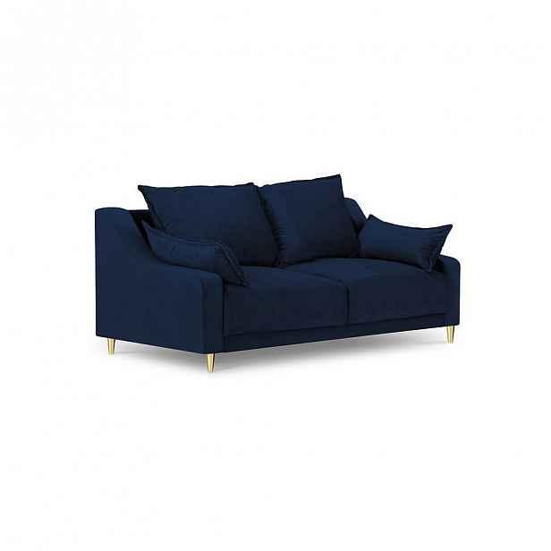 Modrá dvoumístná pohovka Mazzini Sofas Pansy