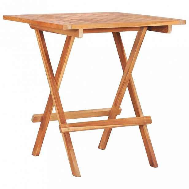 Skládací bistro stolek 60x60x65 cm teakové dřevo