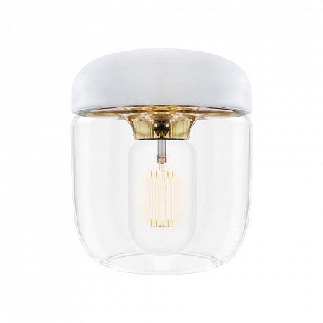 Bílé stínidlo s objímkou zlaté barvy VITA Copenhagen Acorn, ⌀14cm