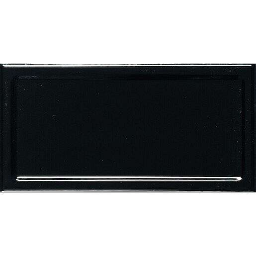 Obklad Ribesalbes In Metro negro 10x20 cm lesk INM2247