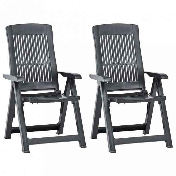 Zahradní polohovací židle 2 ks antracit