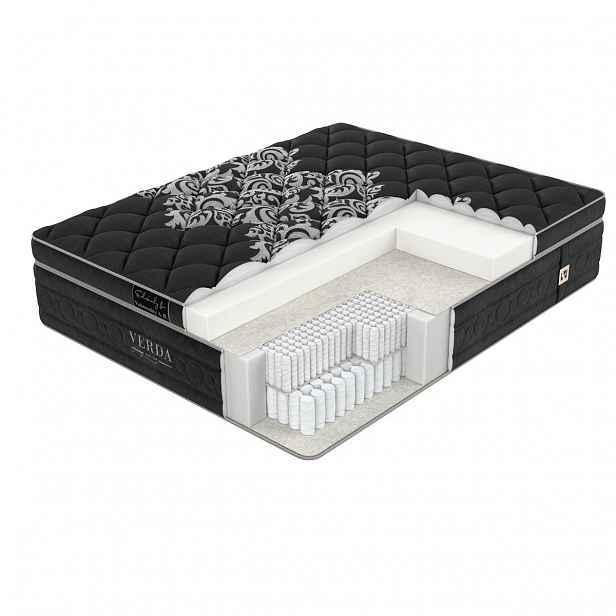 Verda Hi-Soft Memory 180 x 200 cm Black orchid výjimečně pohodlná matrace