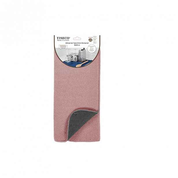 Růžová podložka na umyté nádobí Tiseco Home Studio,50x38cm